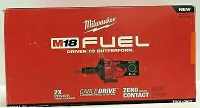 Milwaukee M18 Fuel Drain Snake Cable Drive 35 ft Cordless 2772A-20