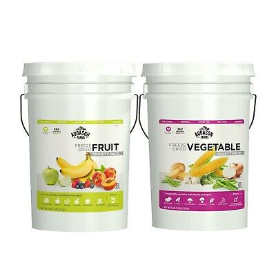 Fruit Vegetable Combo Emergency Food Supply Storage Survival Ration 522 Servings