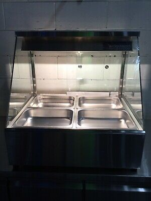 Commercial Cafe Restaurant WOODSON 2 Bay Bain Marie With Rear Doors