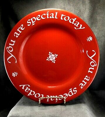 "Waechtersbach ""You Are Special Today"" Famous Red Plate! 1979 Germany ~ Birthday"