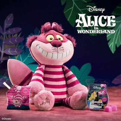 Disney Scentsy Cheshire Cat Buddy Alice in Wonderland Ltd Edition with Scent Pak