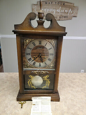 VTG ~ELLIOTT Wooden Mantel Clock - Original Dial /Pendulum & Key~ Parts / Repair