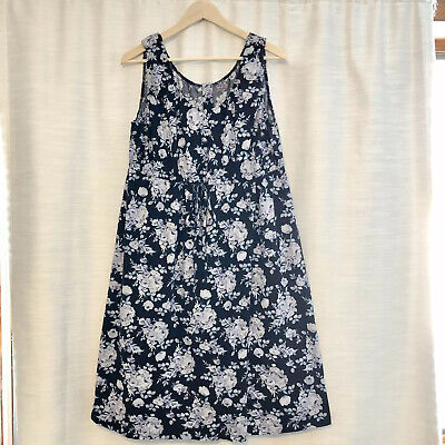Baby Be Mine Labor Birthing Gown Maternity Nursing Floral Black Size Large XL