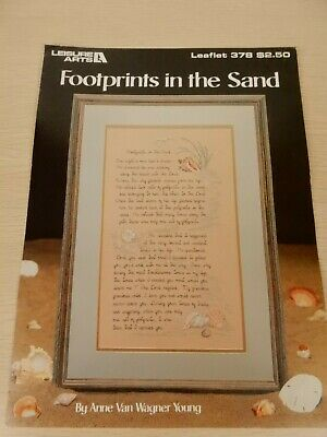 Leisure Arts #378 Footprints in the Sand Anne Van Wagner Young Needlework 1985