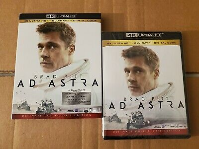 LIKE NEW!! - AD ASTRA: w/Mint Slipcover (4K Ultra HD & Blu-ray)