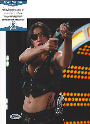 MICHELLE RODRIGUEZ SIGNED 'FAST AND THE FURIOUS' 8x10 PHOTO 4 BECKETT BAS COA