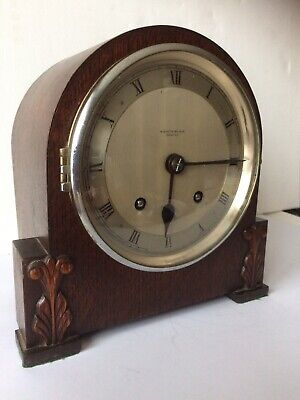 1930's MANTLE CLOCK BY ENFIELD W. Austin Balsom Reading 8 Day Working Order VGC