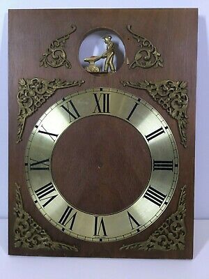 Cuckoo Clock Man Striking Anvil West Germany Dial and Wooden Face