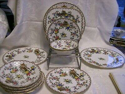 Lot of 12 Pieces AYNSLEY PAGODA  Smooth Edge #694635 Pagodas/Floral Trim