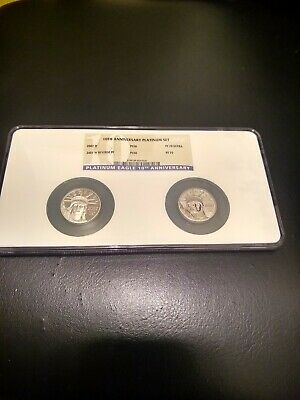 2007 W American Eagle Platinum Set $50 Coins Rev Proof & Proof Both PF70 by NGC