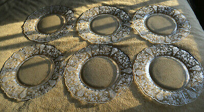 """6 GORGEOUS 1950 Cambridge ROSE POINT Crystal DINNER PLATES 10.25"""" 3900/24Wow!"""