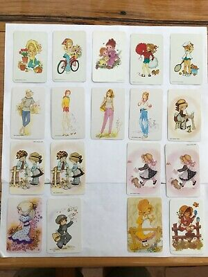 18 vintage collectors swap cards blank back TEENAGERS and Children CUTE 1970s