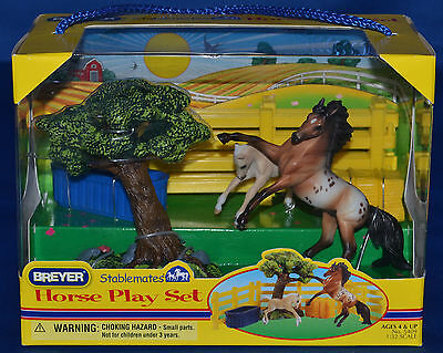 Breyer~2010-12~Horse Play Set~Appaloosa Andalusian & Foal~Stablemate~Sm~NEW