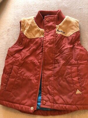 Boys Red Padded Gilet Bodywarmer Ages 3-4 From Hadleigh London