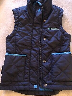 Childrens Blue Quilted Riding Gilet Bodywarmer Ages 5-6 From Mountain Warehouse