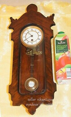 Lenzkirch mini 1870 Antike Alte Deutsche Wanduhr Antique German Wall Clock