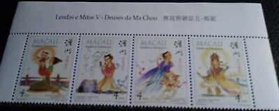 Macao Scott's 921-4. MNH. Strip of 4. Myths and Legends. sal's stamp store.