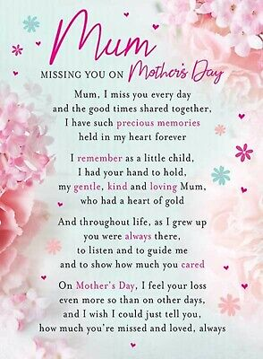 Mum Missing You On Mother's Day graveside Memorial Grave Card