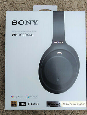 Sony WH-1000XM3 Wireless Noise Cancelling Headphones Black - only 1 weeks use