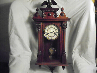 Antique 19th century German wall mouted pendulum clock