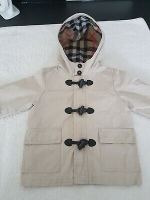 Burberry Boys Jacket Age 18 Months Toggle Style Vgc Ideal For Spring Summer