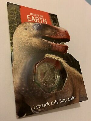 MEGALOSAURUS SYO STRIKE YOUR OWN DINOSAUR 50P COIN! 3 To Collect! NEW! LIMITED!
