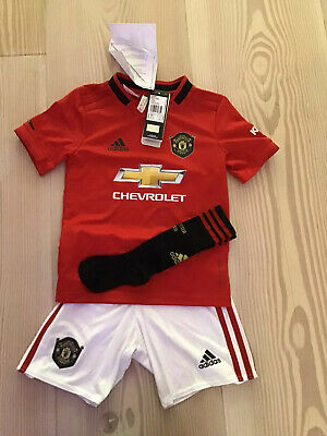 Manchester United Adidas Kids Boys Home Mini Kit 2019 2020 GENUINE Age 5 - 6