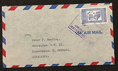 cover Venezuela Caracas Air Mail Heering Denmark American Bank of London
