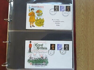 KESTREL COVER ALBUM with 38 Definitve First Day Covers