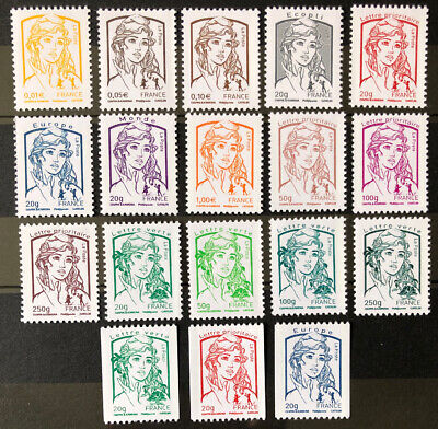 Timbres France Neufs - Lot Marianne n° 4763 à n° 4780 - Faciale 31,87€