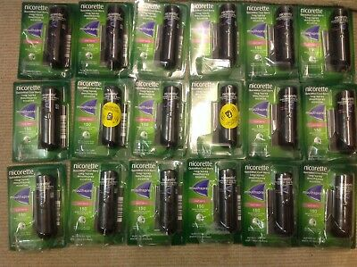 NICORETTE QUICKMIST MOUTH SPRAY COOL BERRY 20 DOUBLE PACKETS 40 X 1mg. EXPY 2021