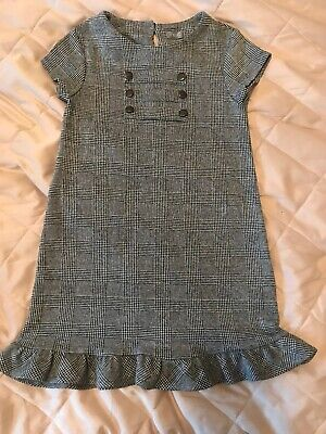 Next Dogtooth Black/white Girls Dress Age 5-6 Years