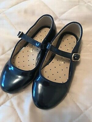 Next Girls Navy Party Shoes Size 10 Excellent Condition