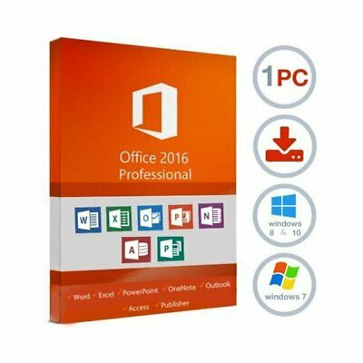 Microsoft Office 2016 Professional Plus 32/64 Key 1PC Pro Fast Delivery Multi
