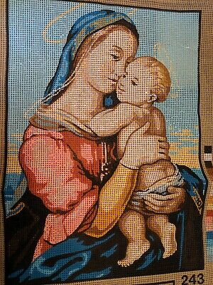 Vintage LUC Creations Madona Tempi Needlepoint Tapestry