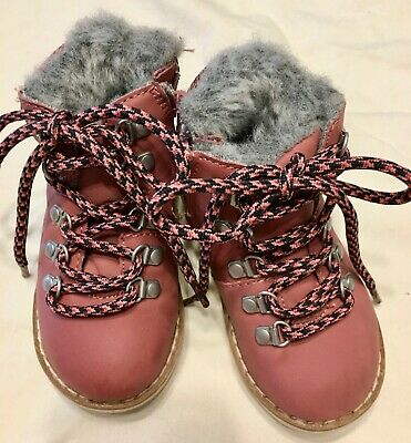 Winter Zara Baby Girls working Boots  size US 5.5 EU 21 Magenta Pink