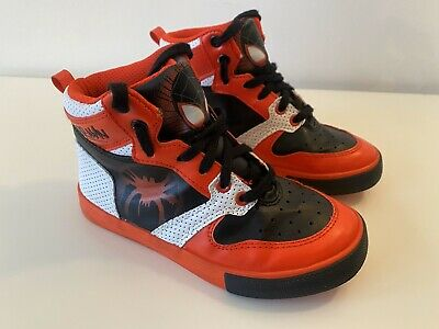 Boys High Top Trainers Disney Store Marvel Spiderman UK Child size 12