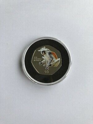 Red Colubus Monkey 50P 2018 Coin Gibraltar Primates Brilliant Uncirculated