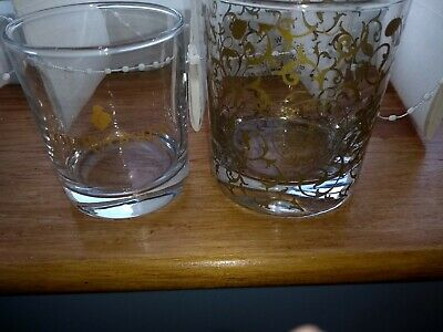 Brandy and whisky glasses