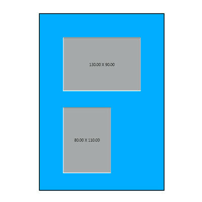 Packs of 5 or 10 A4 Picture Mounts with 2 windows to fit A4   frames