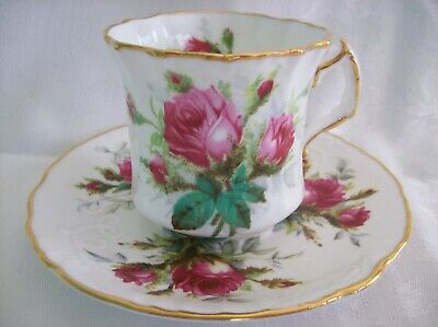 Hammersley CUP & SAUCER GRANDMOTHER'S ROSE Embossed china