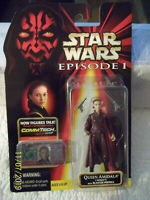 Star Wars 1998 Modern Style Queen Amidala Naboo ~ With Blaster Pistols