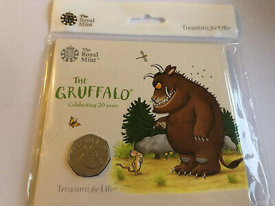 The Gruffalo 2019 50P Brilliant Uncirculated Coin Sealed Royal Mint