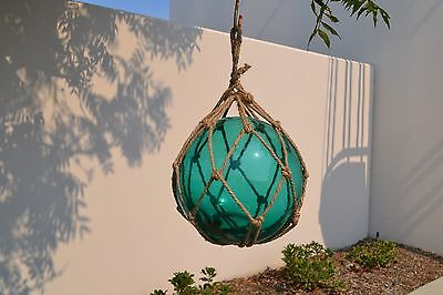 "Reproduction Turquoise Glass Float Fishing Ball Buoys 12"" #F-1029"
