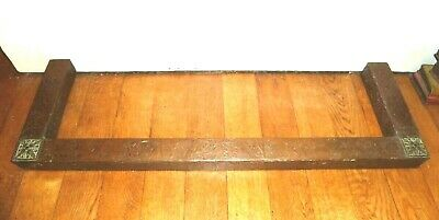 Rare Antique Arts & Crafts Copper Fire Place Fender Surround Kerb Hearth