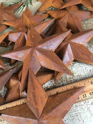 "Set//5 Rusty Barn Stars 5.5 in 5 1//2/"" Dimensional Craft Supply Country Farmhouse"