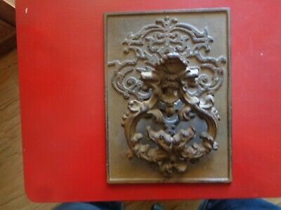 Unique & Rare Antique Old World Style Heavy Metal Back Plate Door Knocker