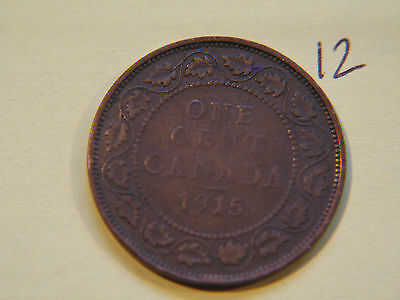 1915 Canada, Canadian Large Cent Coin , Canadian One Cent