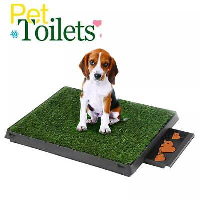 Indoor Dog Toilet Puppy Cat Pet Training Mat Potty Tray Grass Restroom Portable