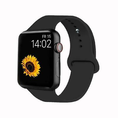 VATI Sport Band Compatible for Apple Watch 42mm 42MM/44MM M/L, 002-Black